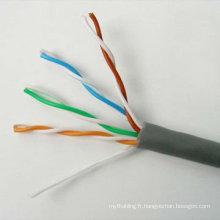Cable de cuivre cable utp cat5e bobine 1000ft OEM disponible